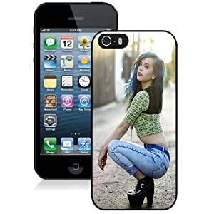 New Personalized Custom Designed For iPhone 5s Phone Case For Blue Hair Woman Phone Case Cover
