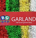 """Extra large Green Foil Tinsel Christmas Garland 708"""" (59 Feet) By Blue Green Novelty"""