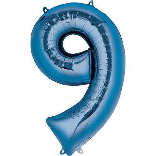 Anagram 28297 Number 9 Blue Foil Balloon, 34