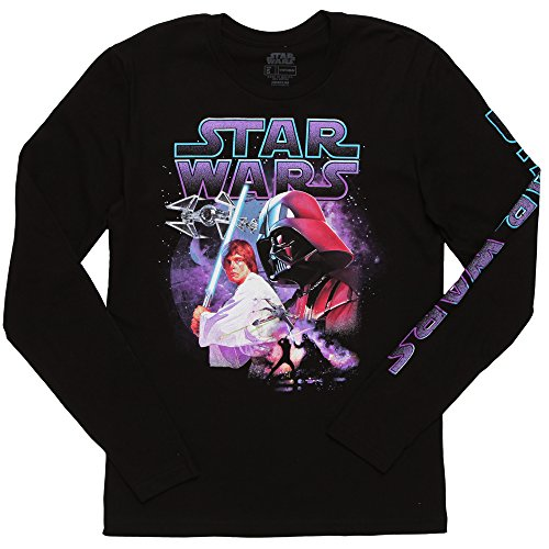 Star Wars Father and Son Long Sleeve Adult T-Shirt - Black (Large) ()