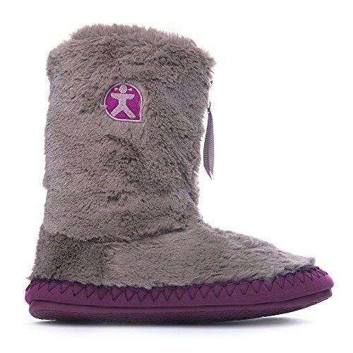 Bedroom Athletics – Monroe – pantofola stivali, stile classico in finta pelliccia – Moonrock.