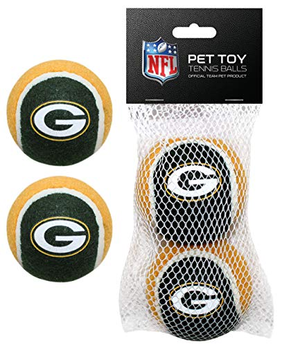 Nfl Pet Set - Pets First GBP-3189 NFL Green Bay Packers 2 Tennis Balls Set, Team Color