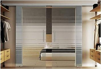 Correderas de cristal de la puerta con incluido dos discos en cada 102,5 x 205