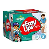 Pampers Easy Ups Boys  Diapers Big Pack, 60 Count,Size 5 (3T-4T)