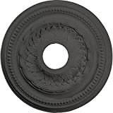 Ekena Millwork CM15GASGS 15 3/4'' OD X 3 1/4'' ID X 1'' P Galway Ceiling Medallion fits Canopies up to 3, Steel Gray