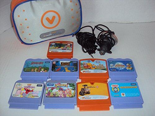 V Smile Elmo - V Tech V Smile Cyber Pocket Carrying Case, Car Charger, 9 Games, Cord, Wall E, Simba, Handy Manny, Thomas, Elmo and More!