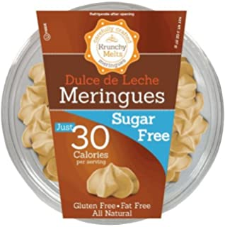 Krunchy Melts – Sugar Free Meringues – Dulce De Leche Flavor – 2 Oz Tub