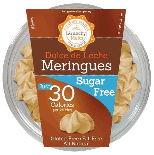 (Krunchy Melts - Sugar Free Meringues - Dulce De Leche Flavor - 2 Oz Tub)