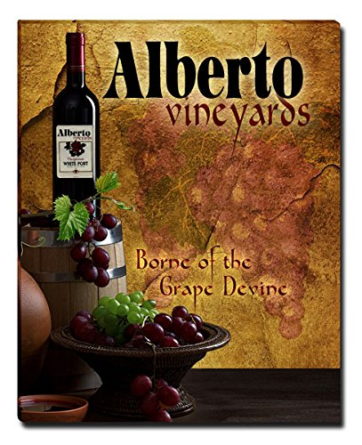 Alberto's Vineyards Grapes Wine Gallery Wrapped Canvas Print