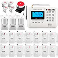 Fuers F-Q2 433mhz Wireless GSM PSTN SMS Home Burglar Alarm System Auto Dial Complete Home and Business Security Garden Alarm System Double Antenna Intruder Alert System Support IOS Android APP Control