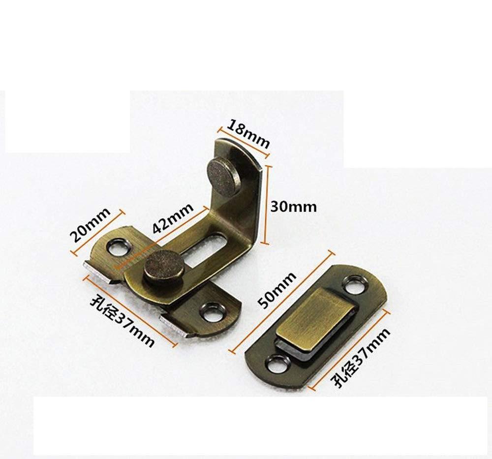 90 degr/és /à angle droit boucles de loquet de porte boucles de verrou incurv/ées verrous de levier de verrouillage coulissants pour portes et fen/êtres quincaillerie de verrouillage accessoires m/énagers