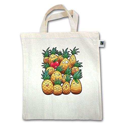 Jutebeutel Süße Comic kurzer XT500 Henkel Unisize Ananas Party Natural Shirts HwT7w0