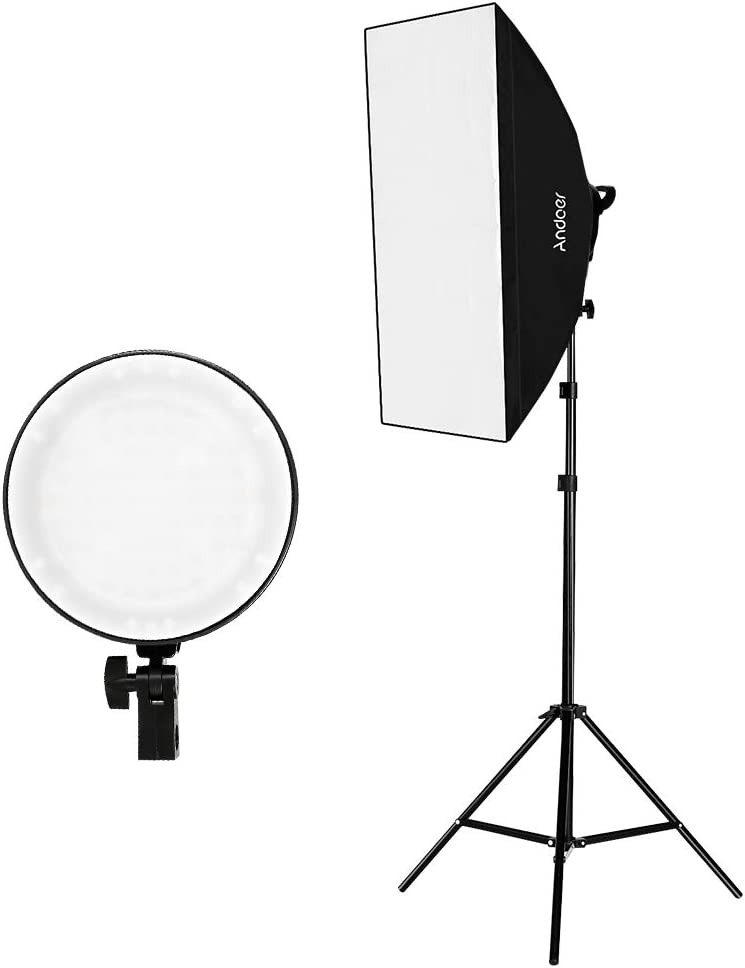 Amazon Com Andoer Studio Photography Softbox Led Light Kit Including 20x28 Inches Softboxes 45w Bi Color Temperature 2700k 5500k Dimmable Led Lights 2 Meters Light Stands Carry Bag Camera Photo