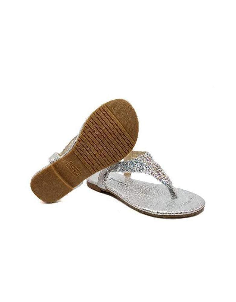 UHAVITCOM Infant Easy Slip On Traingle Rhinestone Design Sandals PECKO-1825KS