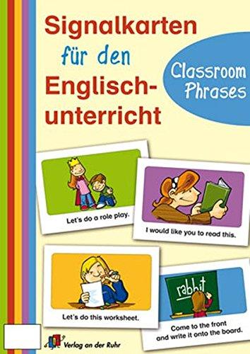Signalkarten für den Englischunterricht: Classroom Phrases