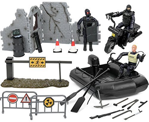 Click N' Play Military Police Elite SWAT Patrol Team 32 Piece Play Set With Accessories