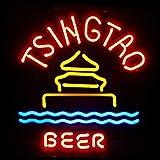 Tsingtao Beer Neon Sign 17''X14'' Inches Bright Neon Light Display Mancave Beer Bar Pub Garage