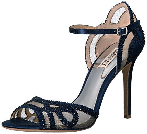 Badgley Mischka Womens Tanaceto Abito Sandalo Blu