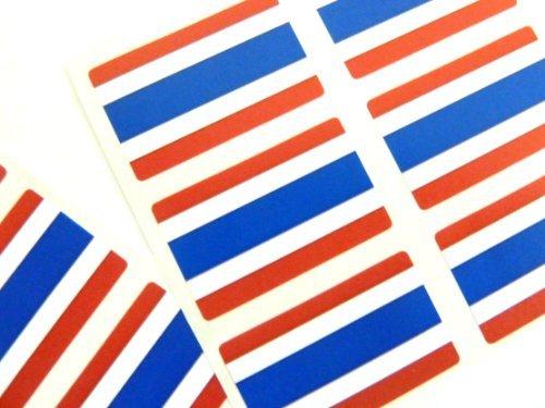 Minilabel Mini Sticker Pack, 33X20mm Rectangle, Self-Stick Thailand Labels, Thai Flag - Mini Stick Thai