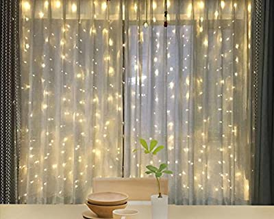 Twinkle Star 600 LED Window Curtain String Light for Wedding Party Home Garden Bedroom Outdoor Indoor Wall