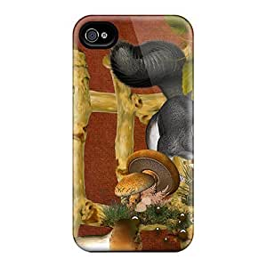 New Snap-on Skin Cases Covers Compatible With Iphone 6- Mushrooms Squirrels