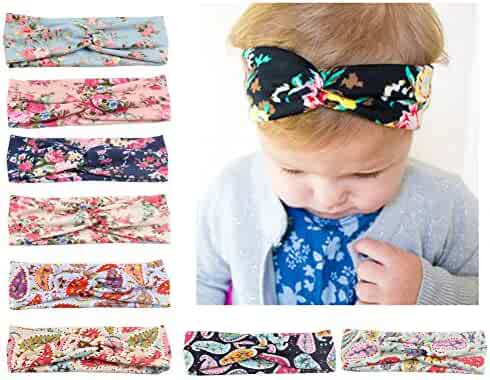 Baby Headbands Turban Knotted, Girl's Hairbands for Newborn,Toddler and Childrens