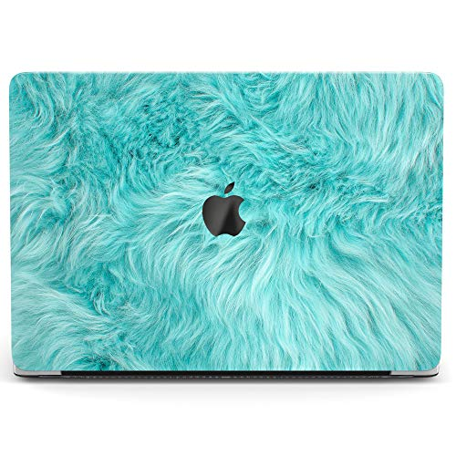 Wonder Wild Case for MacBook Air 13 inch Pro 15 2019 2018 Retina 12 11 Apple Hard Mac Protective Cover Touch Bar 2017 2016 2015 Plastic Laptop Print Blue Wool Cute Animal Fur Texture Cartoon Monsters
