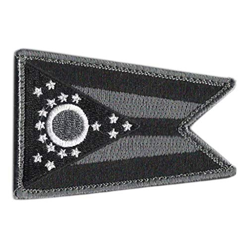 Tactical State Patch - Ohio (Black/White)