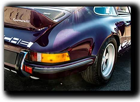 Porsche 911 Rs Wall Art Decor Picture Painting Poster Print on Canvas Panels Pieces - Vintage Car Theme Wall Decoration Set - Porsche Wall Picture for Showroom Office 11 by 16 in
