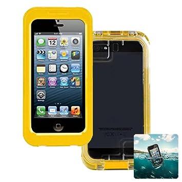 Donkeyphone S114GSC1600 - Carcasa acuática para iPhone 4 / 4s / 5 / 5s y Funda Sumergible Waterproof, Color Amarillo