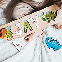 Personalized Wood Name Puzzle With Pegs & Custom Design - Toddler Name Puzzle For Girls & Boys - Nursery Decor