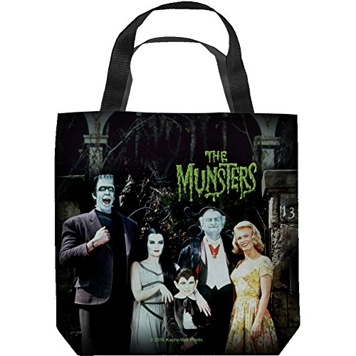 [해외]괴물 가족 토트 백 16X16 화이트/The Munsters The Family Tote Bag 16X16 White