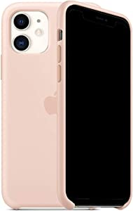 Mespirit Silicone Case Compatible for iPhone 11, Liquid Silicone Non-Slip and Drop-Proof Simple Style Compatible with iPhone 11-6.1 inch (Pink Sand)