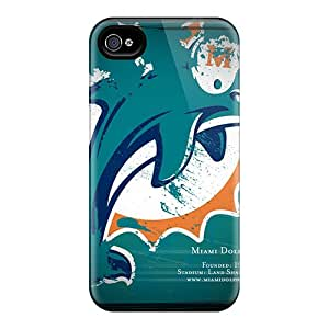 Acbc123 Scratch-free Phone Case For Iphone 4/4s- Retail Packaging - Miami Dolphins