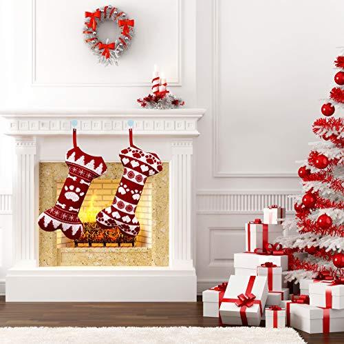 Yostyle Pet Dog Christmas Stockings, 2 Pack 16