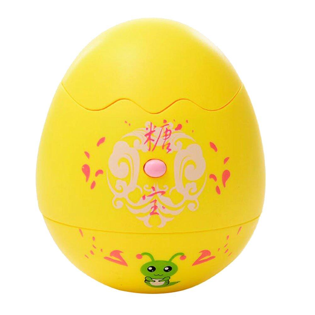 Black Temptation Tumbler Roly Poly Weeble Wobble Kids Egg Toy Dolls Instruments de Musique Jaune