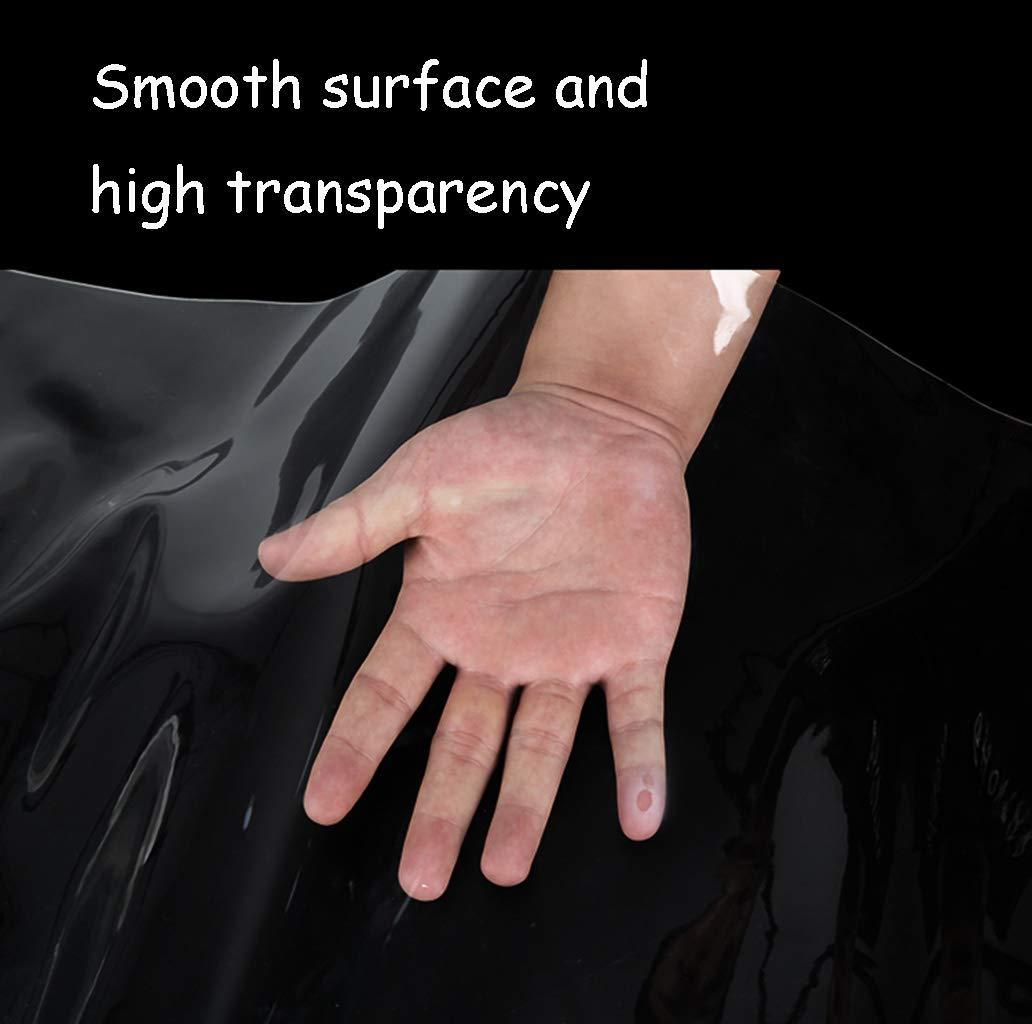 1.5m Farbe: Clear-0.3mm, Gr/ö/ße: 1 * 2m ,1 M-Y-L Transparente Verdickung Regendichte Stoffplane Plastikstoff Regenstoff Regenplane Isolierstoff