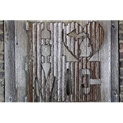 Rusty Tin Home w/ State Cutout, Home Decor, Initials, rustic wedding decor
