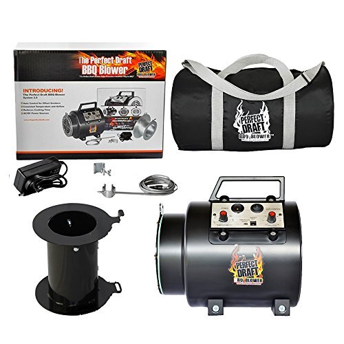 Perfect Draft The BBQ Blower 2.0 with Universal Adapter and Duffle Carry Bag Protect Your ()