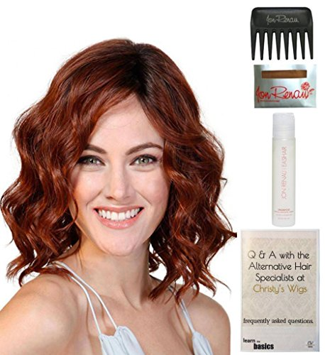 Babe Tooth (Bundle - 5 items: Biscotti Babe Monofilament Wig by Belle Tress, Christy's Wigs Q & A Booklet, 2oz Travel Size Wig Shampoo, Wig Cap & Wide Tooth Comb - Color: Vanilla Lush)