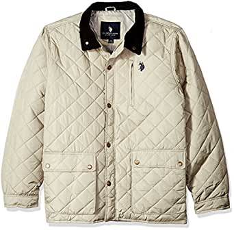 U.S. Polo Assn. Men's Diamond-Quilted Jacket, Thompson Khaki, S