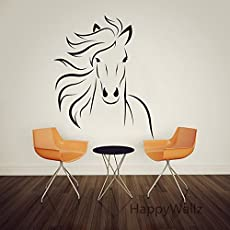 Homefind 22u0026quot; W X 27u0026quot; H Chinese Ink Painting Style Head Of Horse  Wall Stickers