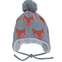 Warm Cute Baby Fall Winter Earflap Beanie Hat (S: 3-9 Months, Fox)
