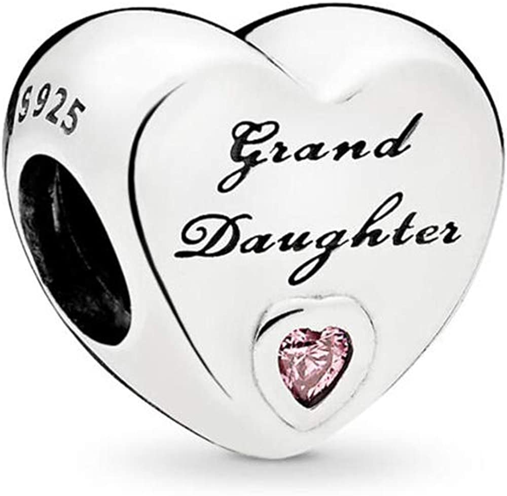Sterling Silver Daughter Sister Best Friend Granddaughter Mum Charm Silver Beads