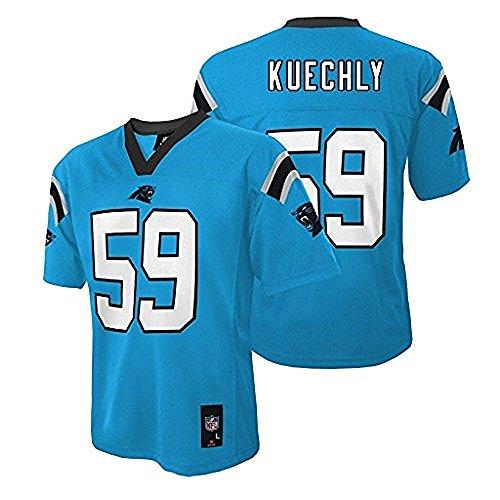 Luke Kuechly Carolina Panthers NFL Youth Aqua Alternate Mid-Tier Jersey (Size X-Large 18-20)