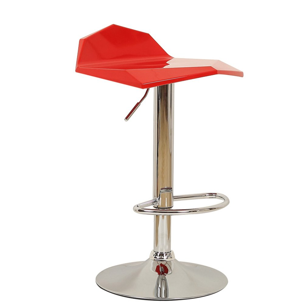 Stylish simple home bar chair / bar chair / simple lift rotation bar chair chair / front desk bar chair ( Color : Red )