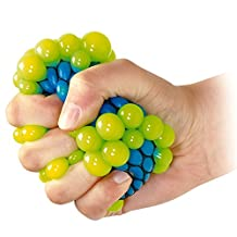 VANKER 1Pc Stress Relief Squeezing Soft Rubber Vent Grape Ball Hand Wrist Toy Random Color