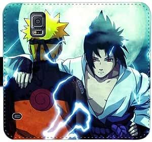 Sasuke y Naruto C8L6D Funda Samsung Galaxy Note caja de la carpeta de cuero Funda 4 fundas Caso I5vw63 teléfono plegable de plástico de protección