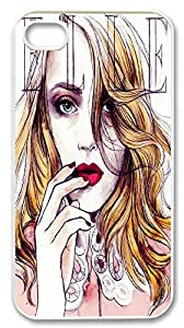 Elle woman iphone4&4s Durable Hard Plastic Case Cover Custom DIY