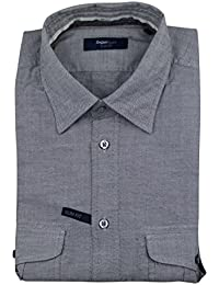 Zegna Sport Gray Cotton Casual Button Down Slim Fit Shirt Size Small